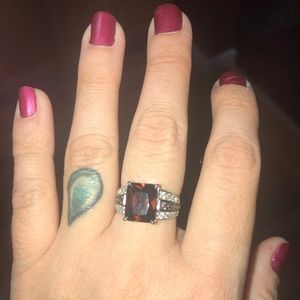 Jewelry - Silver Ring with Brown Gemstone